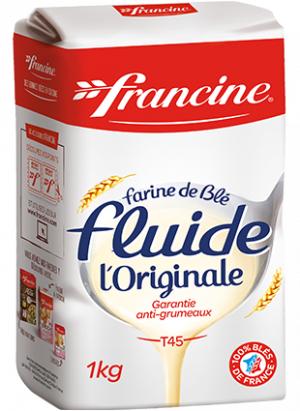 Paquet de farine de blé fluide l'originale Francine - 1 kg