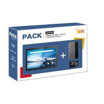 "Tablette 10.1"" Lenovo Tab M10 HD - 32 Go, WiFi Noir + Folio + Carte SD 16 Go + 4 mois Deezer"