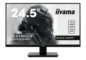 "Ecran PC Gaming 24.6"" Iiyama GMaster Black Hawk G2530HSUB1 - Ful HD, 1ms; Freesync 75Hz"