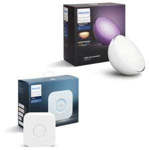 Lampe connectée Philips Hue Go White & Color Ambiance Bluetooth (V2) + Pont de connexion (V2)