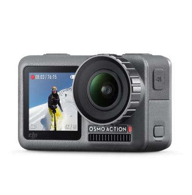 Caméra sportive DJI Osmo Action + Kit de recharge(2 batterie supplémentaire et station de recharge)