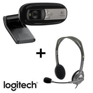 Pack Logitech Webcam C170 + Casque filaire stéréo H110