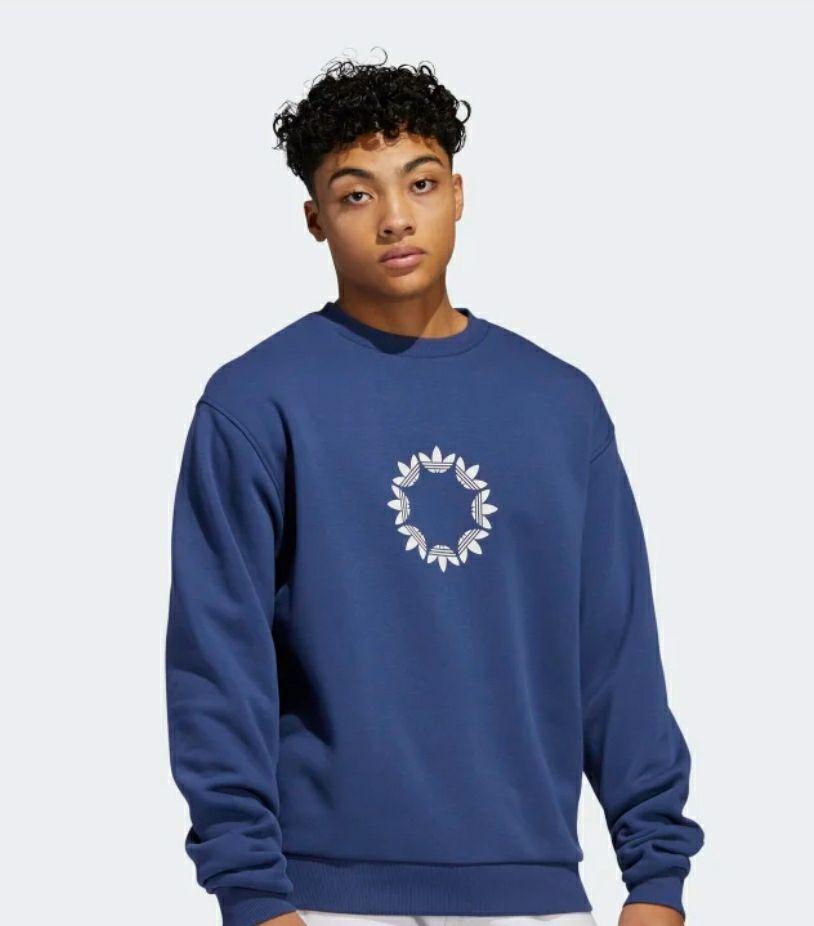 Sweat-shirt adidas Pinwheel Crew - bleu / gris (du XS au XL)