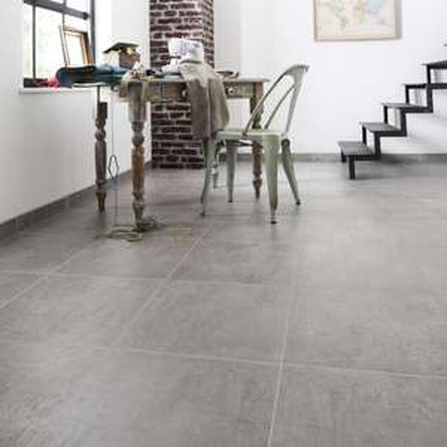 Carrelage sol et mur forte effet béton gris Alma - l.45 x L.45 cm (soit 12.90€/m²)