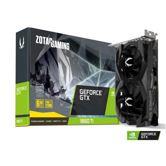 Carte Graphique Gaming Zotac GeForce GTX 1660 Ti Twin Fan - 6 Go