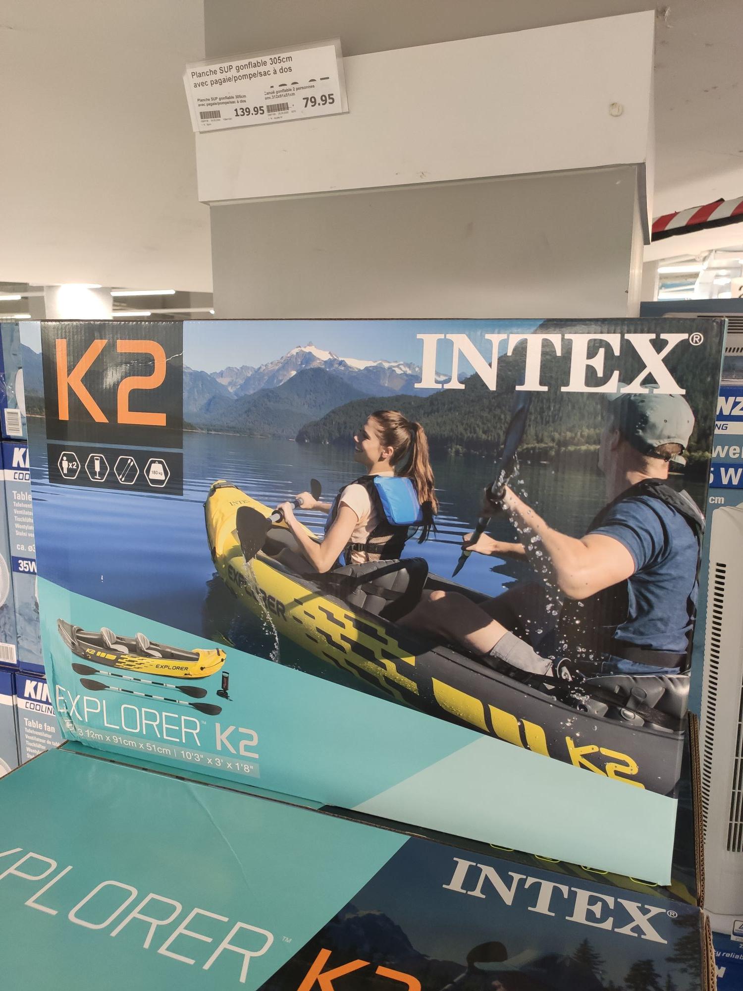 Canoë kayak gonflable Intex Explorer K2 (Toulon 83)
