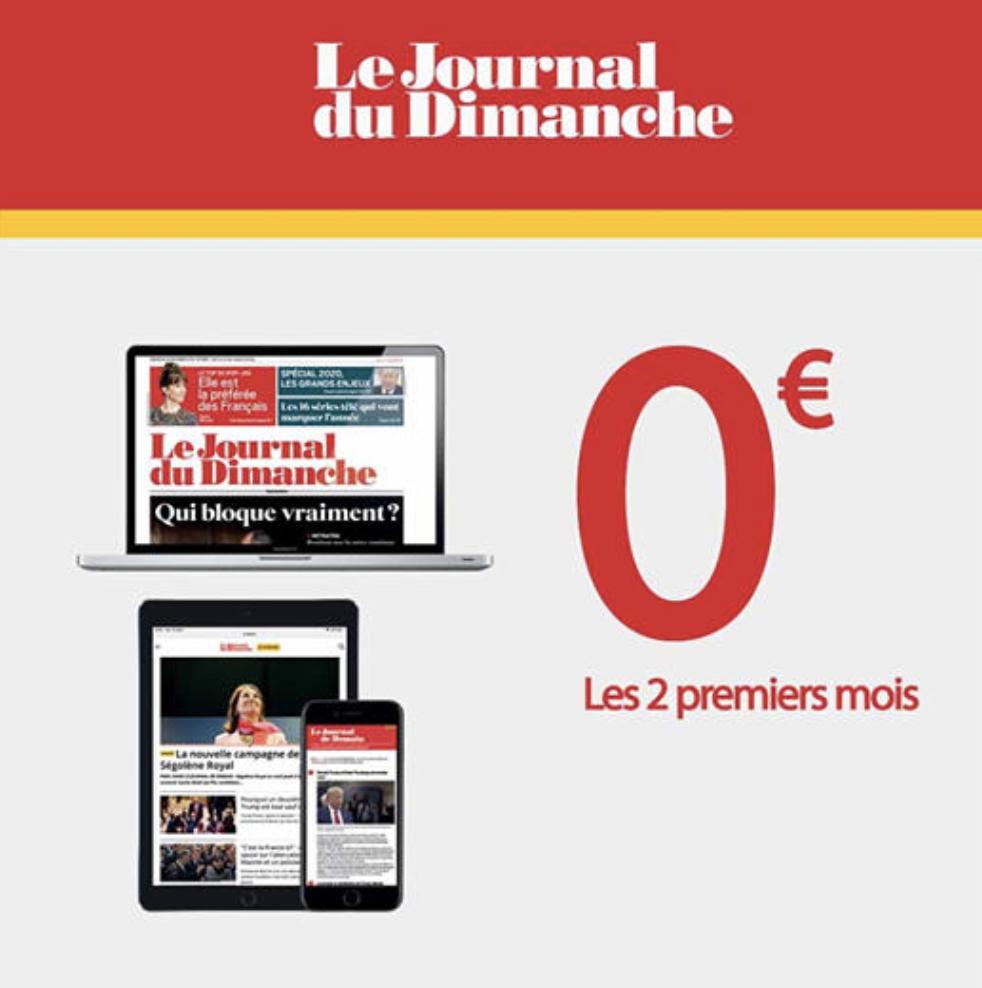 Abonnement de 2 Mois Gratuit au Journal du Dimanche (Numérique) - sans engagement (lejdd.fr)