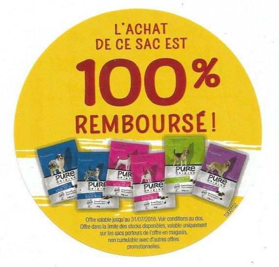 Sac Canicaf Pure Origine gratuit (via ODR)