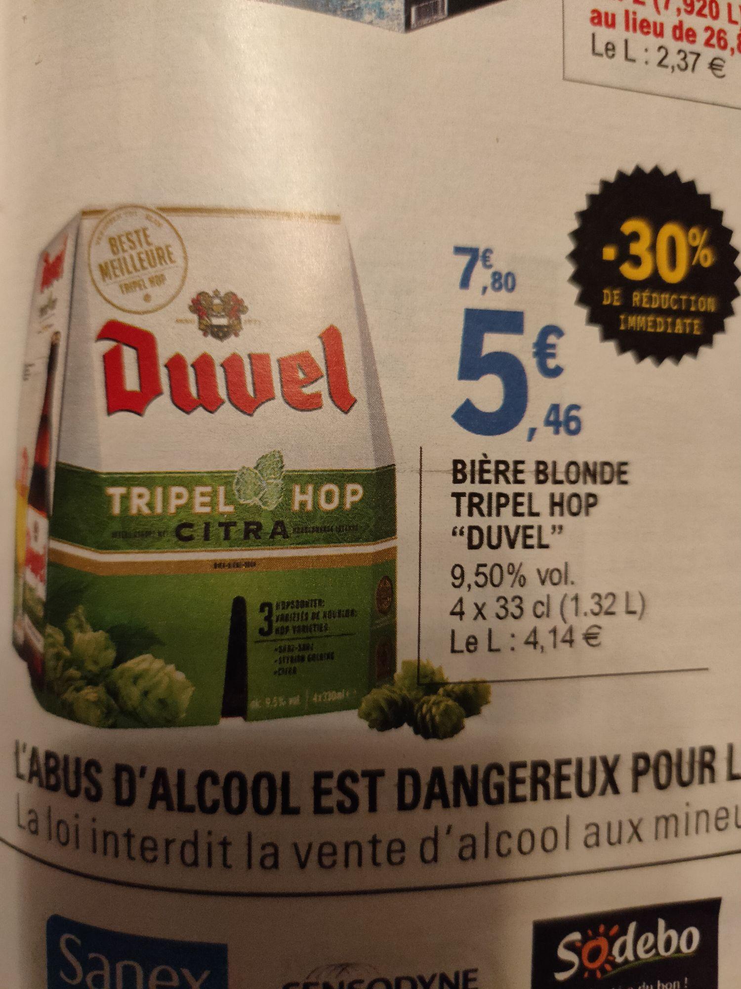 Pack de 4 bières blonde Duvel Tripel Hop - 4 x 33 cl