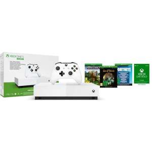 Console Xbox One S All Digital (1 To) + Minecraft + Sea of Thieves + Fortnite + 1 Mois au Xbox Live Gold