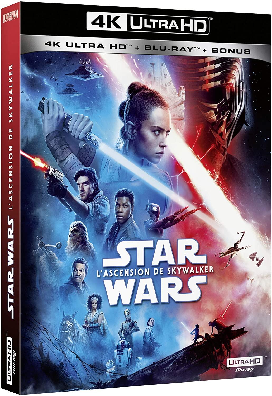Saga Skywalker: Pack des 9 Films Star Wars en Blu-ray 4k (éditions individuelles) + 2 Figurines Funko Pop Kylo Ren / Finn
