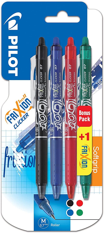 Blister de 4 stylos roller effaçable FriXion Ball Pilot