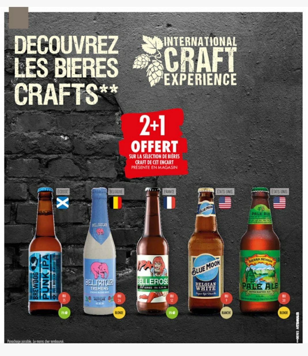 Jusqu'à 34% de remise sur une sélection de bières ou 2 Achetées = 1 Offerte