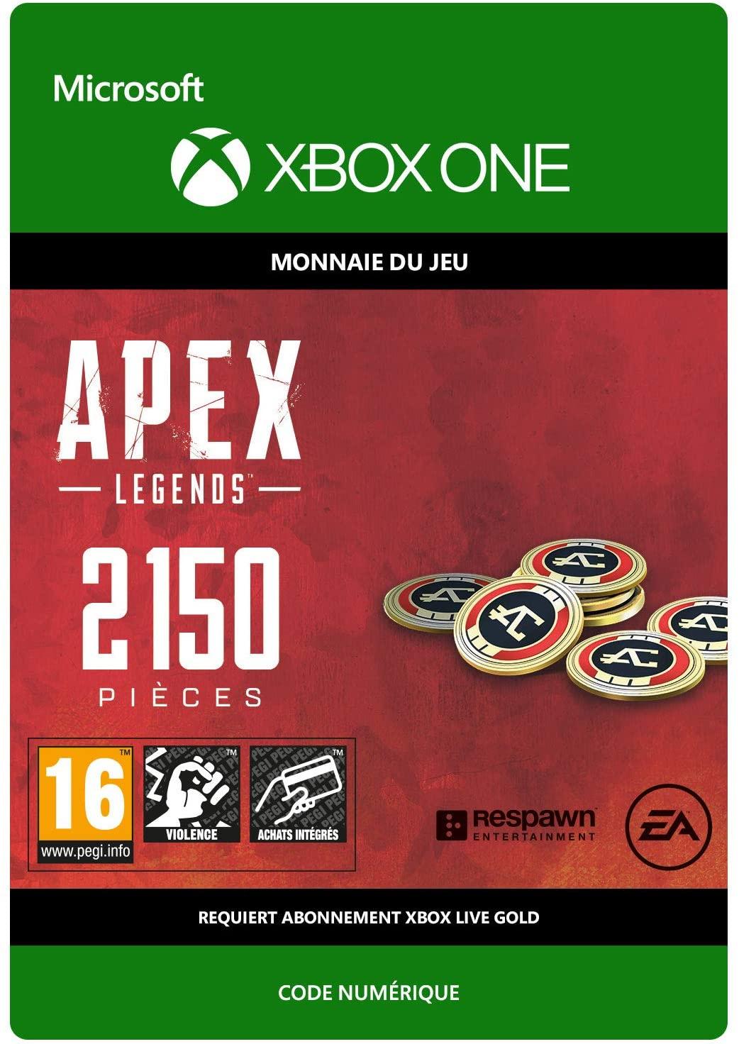 2150 Pièces pour Apex Legend sur Xbox One (Dématérialisé)