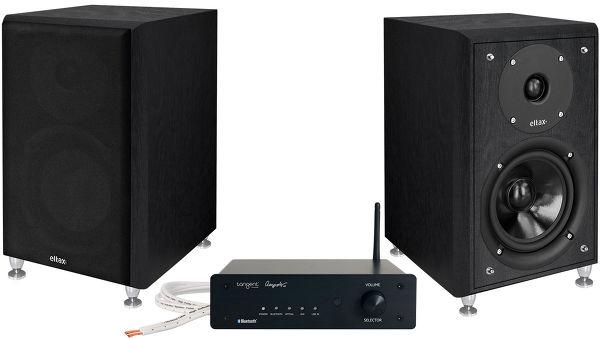 Pack ampli stéréo Bluetooth Tangent Ampster BT II + paire d'enceintes compactes Eltax Monitor III (différents coloris)