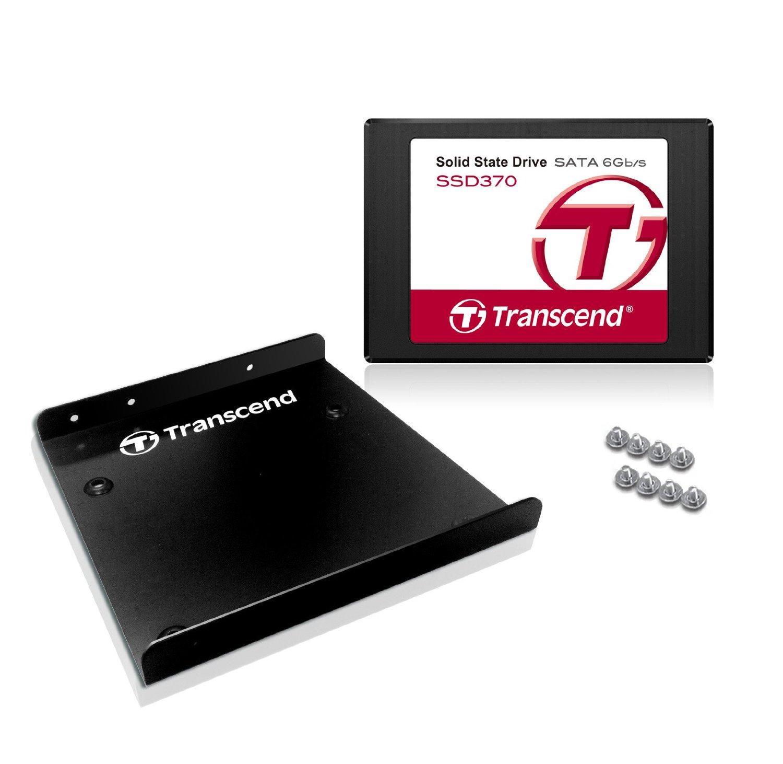 """SSD interne 2.5"""" Transcend 370 (Mémoire MLC) - 256 Go avec adaptateur 3.5"""""""