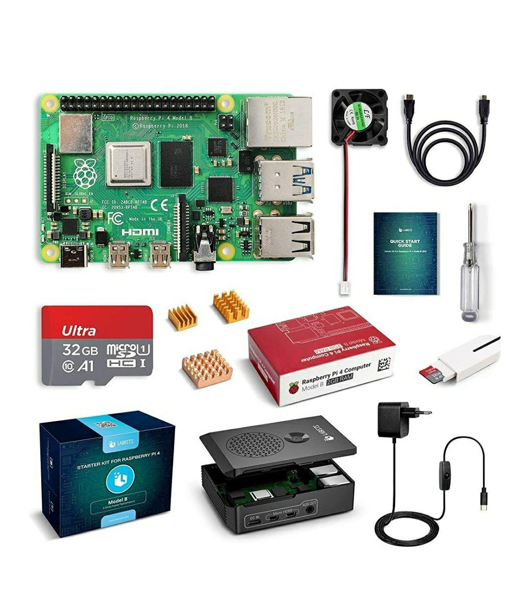 Kit de démarrage Raspberry PI 4 (Modèle B - V1.2) - 2 Go RAM (Vendeur tiers)