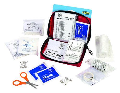 Mini kit de premiers secours avec mallette de transport - 54 pièces
