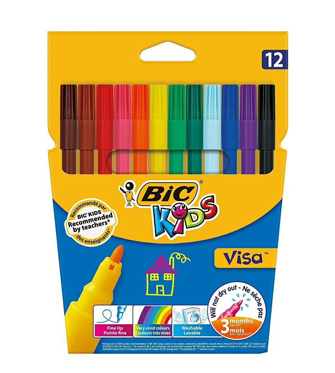 Lot de 12 feutres de coloriage BIC Kids