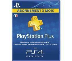 Carte PlayStation Plus 3 mois