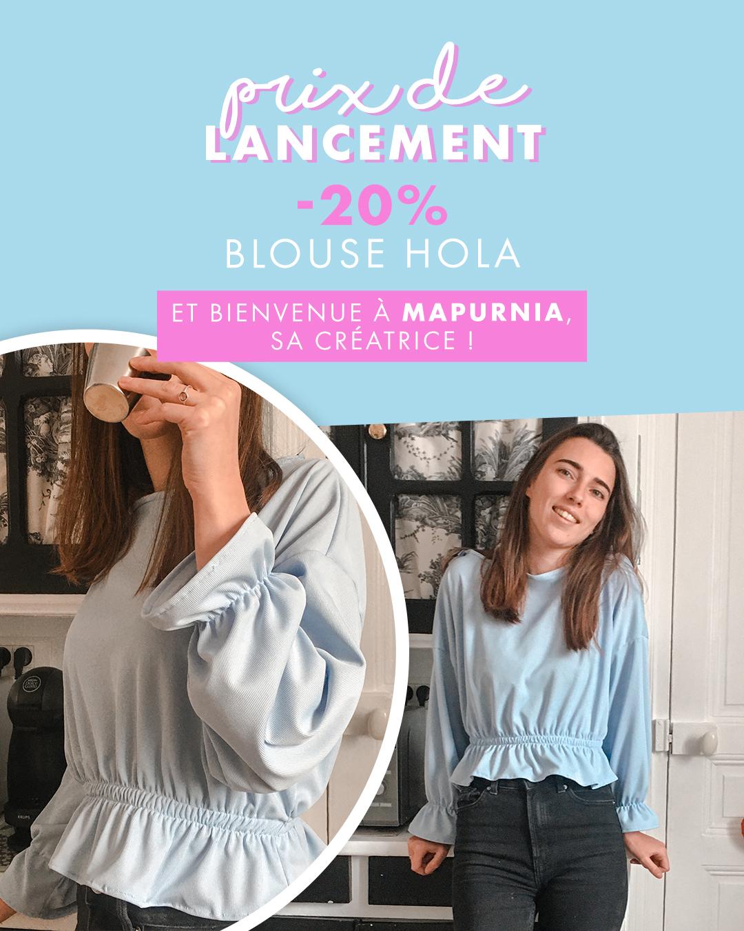 Patron couture blouse Hola pour débutant (Dématérialisé)