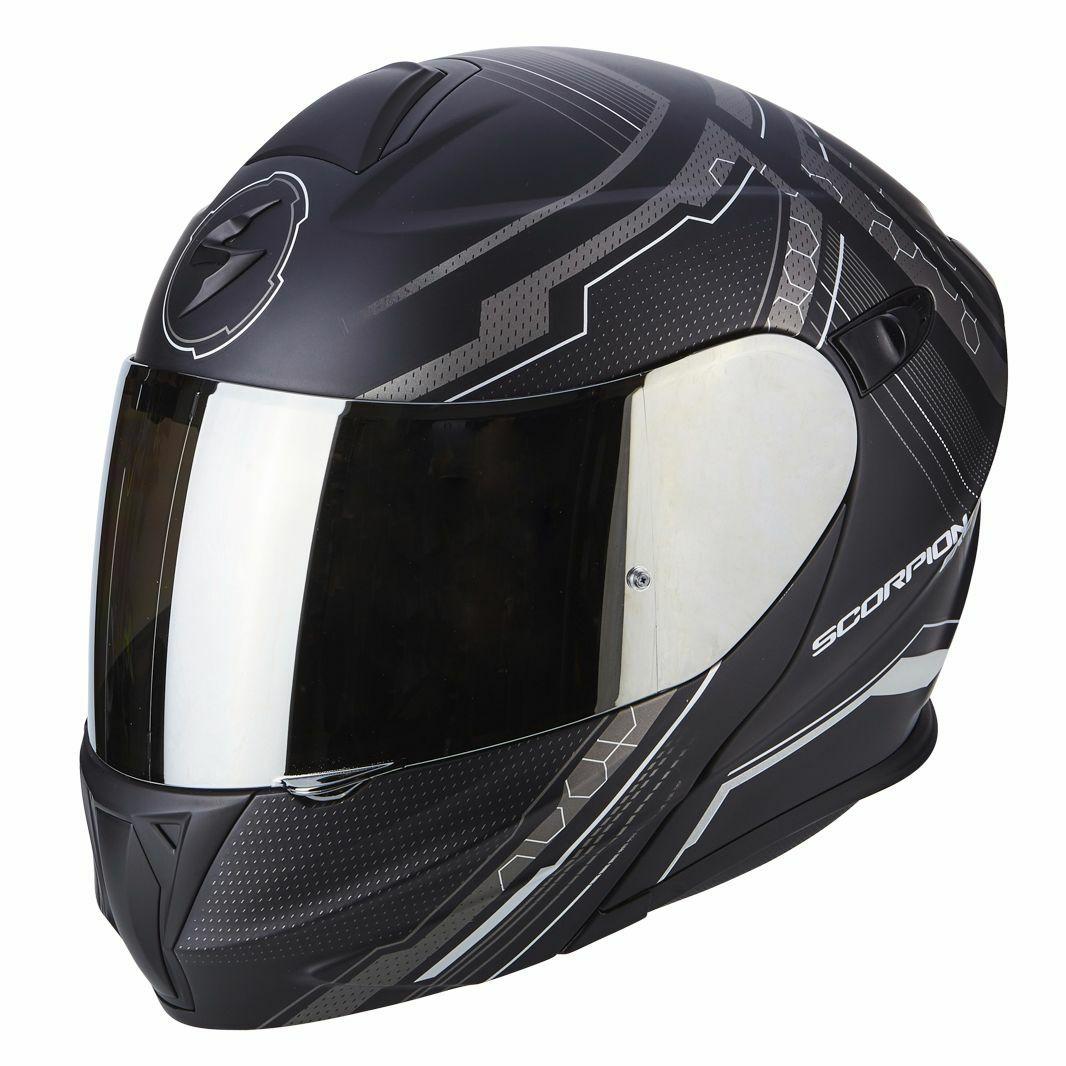 Casque Moto Modulable Scorpion Exo 920 Satellite - Noir / Gris, Du XS au 2XL