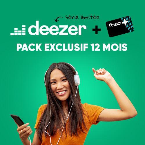 Abonnement au service de streaming musical Deezer Premium + Carte Fnac+ (Dématérialisés - Pendant 12 mois)