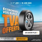 TVA offerte sur une sélection de pneus Continental été et 4 Saisons (Eco Contact 6, Premium Contact 6 et Allseason Contact) - BestDrive.fr