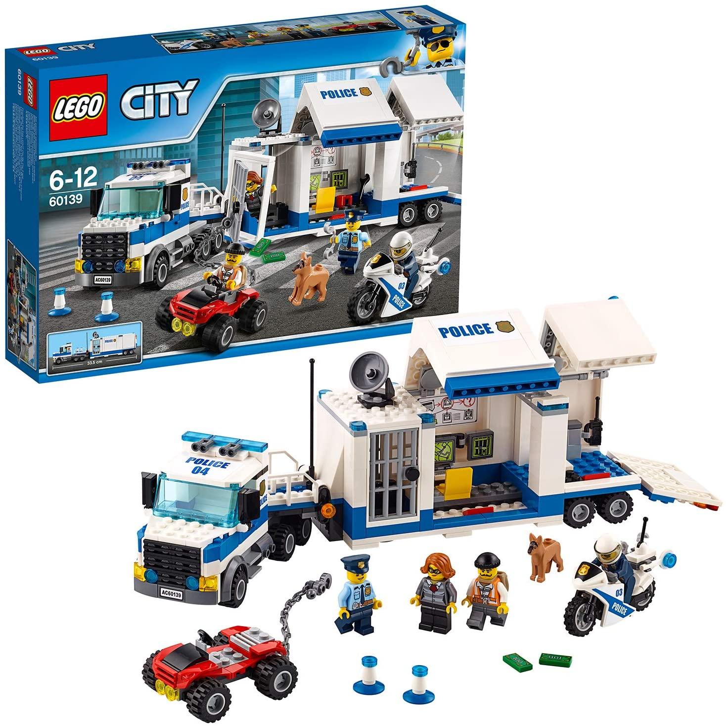 Jouet Lego City - Mobile Command Center 60139 (via 7€ sur la carte de fidélité)