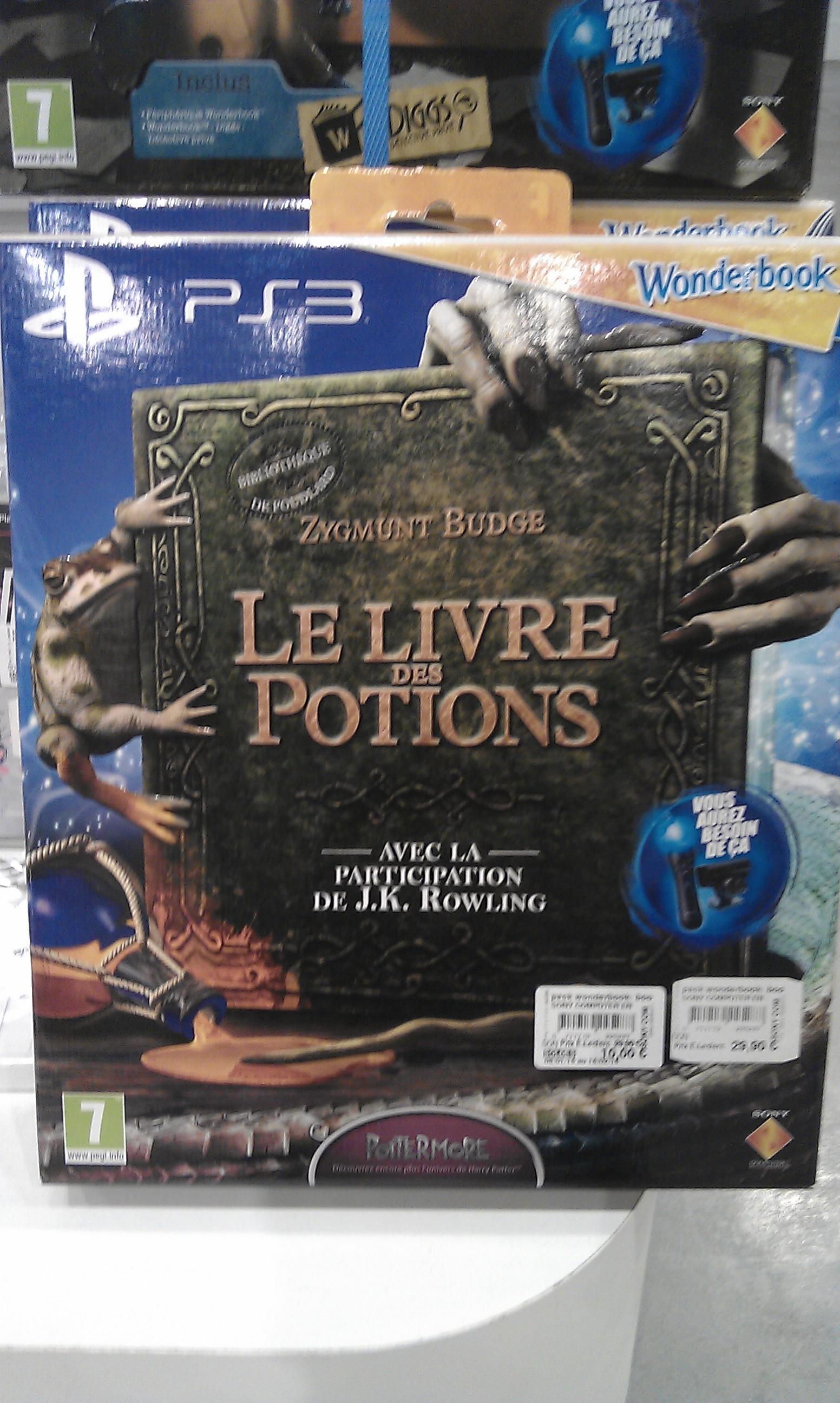Le livre des Potions + Wonderbook sur PS3