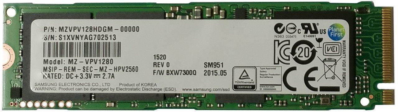 SSD interne Samsung M.2 PCIe 128 Go (MLC)