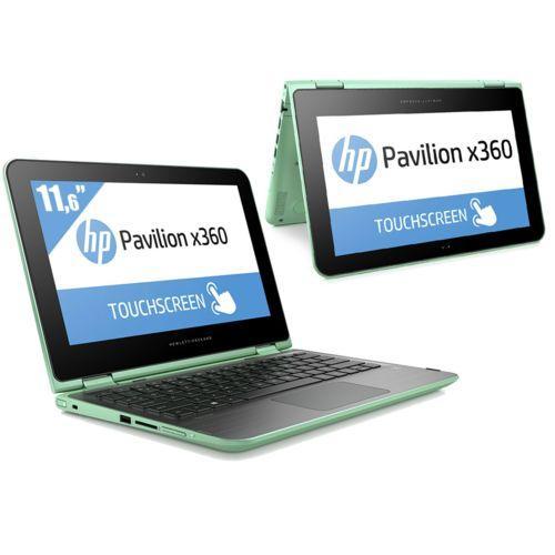 "PC Portable 11,6"" HP Pavilion x360 Vert : Pentium, 4 Go RAM, 500 Go HDD"