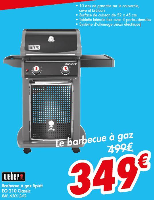 Barbecue à Gaz Weber Spirit Classic E210 (Frontaliers Belgique)