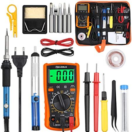Kit fer à souder 60W avec Multimètre (Vendeur Tiers)