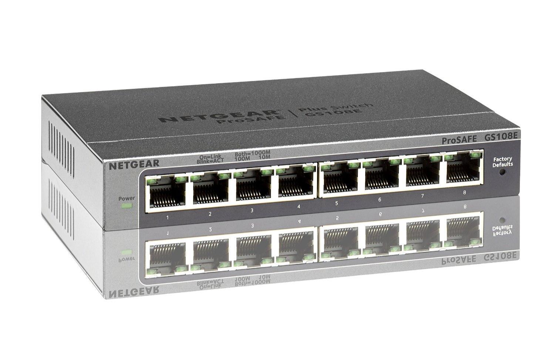 Switch Netgear configurable 8 ports GS108E-300PES ProSafe Plus