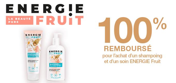 Shampooing monoi et huile de macadamia bio Energie Fruit + Masque monoi et huile de macadamia bio (via ODR)
