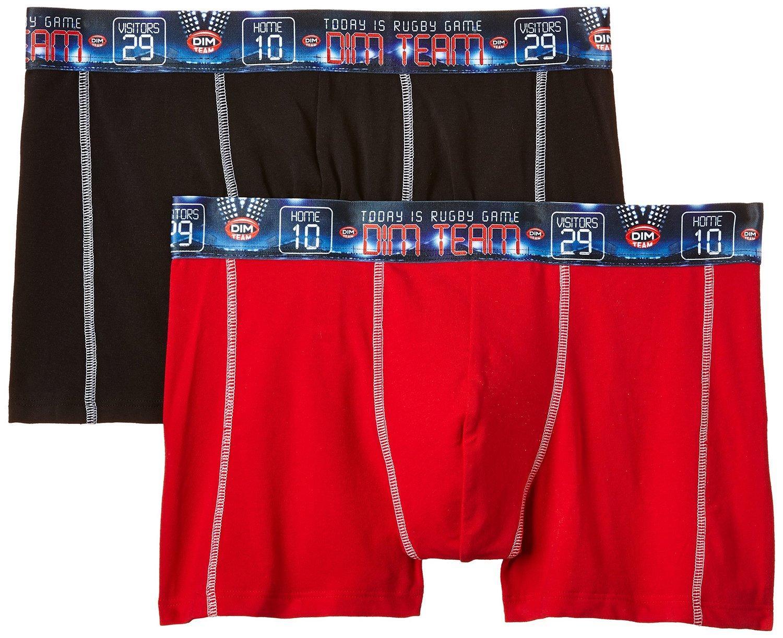 Lot de 2 Boxers DIM 3D Flex Noir / Rouge