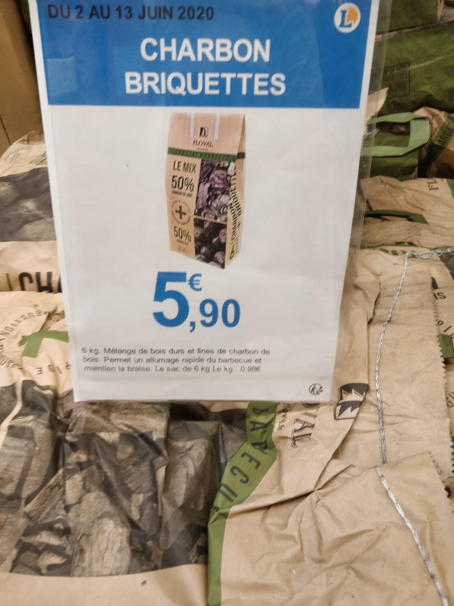 Sac de charbon/briquettes 50/50 - 6 Kg, Fameck (57)