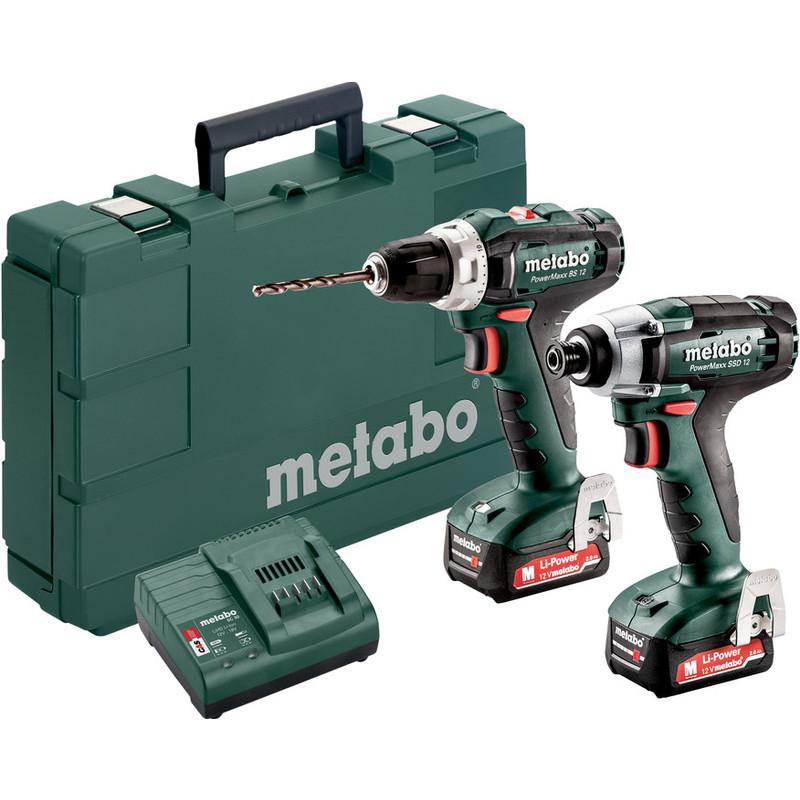 Pack Perceuse visseuse et Visseuse à chocs Metabo 12V ( coffret + 2 batteries 2Ah) (144€ avec le code TSREPRISE2020)