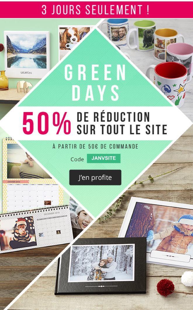 50% de réduction dès 50€ d'achat sur tout le site