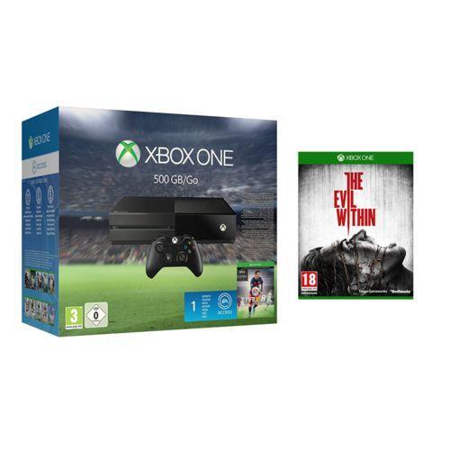 Console Microsoft Xbox one 500 Go + fifa 16 + evil within (-10% supplémentaires si nouveau client)
