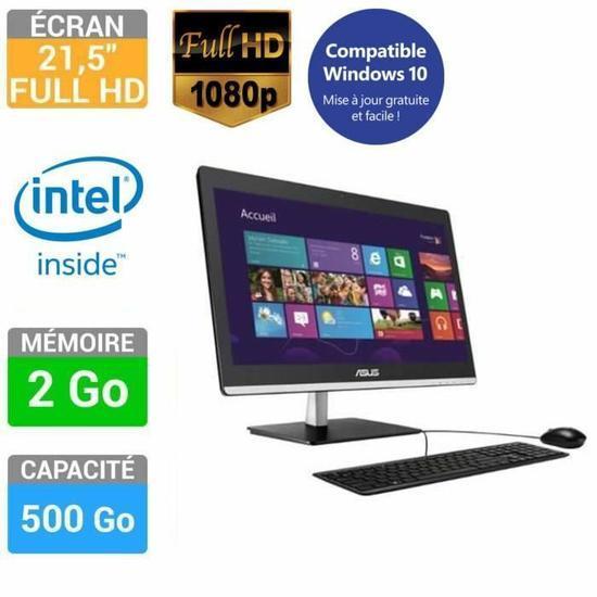 """PC de bureau Tout en Un 21.5"""" Asus ET2232IUK-BC021V - Full HD, RAM 2 Go, HDD 500 Go"""