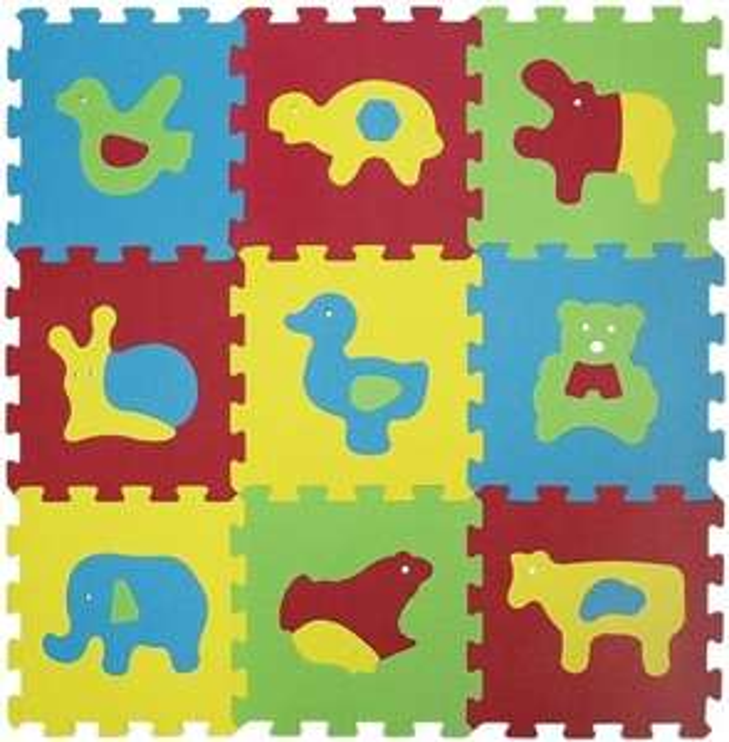 Tapis de sol d'éveil puzzle Ludi Animaux - 18 éléments, dalles en mousse