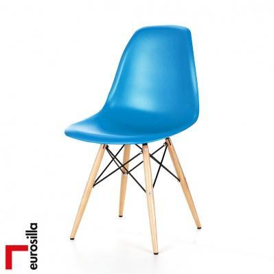 s lection de chaises et tabourets eurosilla en promotion ex chaise scandinave bleue. Black Bedroom Furniture Sets. Home Design Ideas