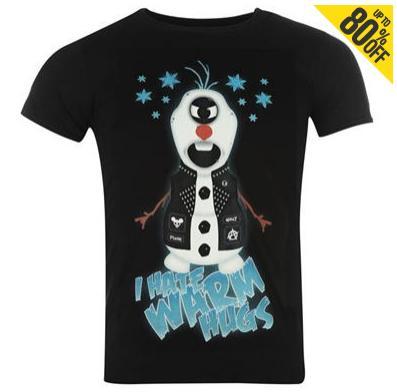 Jusqu'à 80% de réduction sur une sélection de t-shirts imprimés - Ex : T-shirt Evileyed pour Homme (différents motifs)