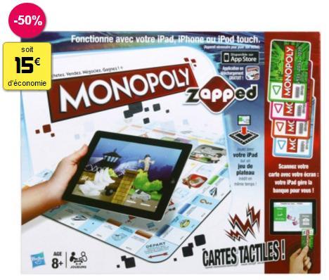 Jeu de société Monopoly interactif Zapped