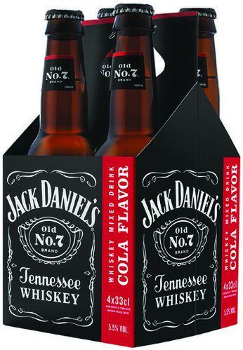 Pack de 4 boissons aromatisées Jack Daniel's - 4 x 33 cl (via Shopmium)