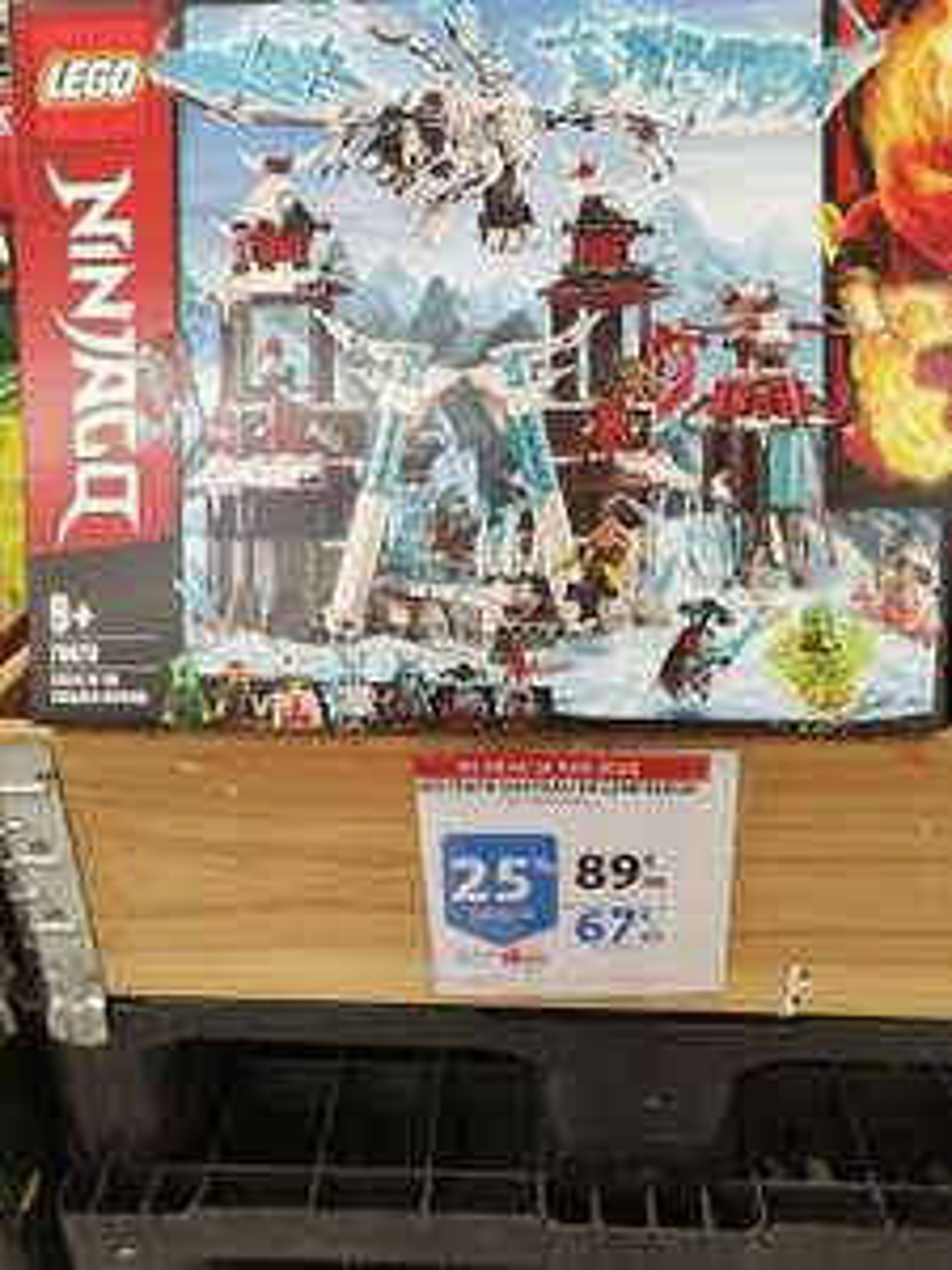 25% offerts sur la carte fidélité sur une sélection de set Lego NinjaGo - Ex: Lego NinjaGo 70678 - Auchan V2 Villeneuve d'Ascq (59)