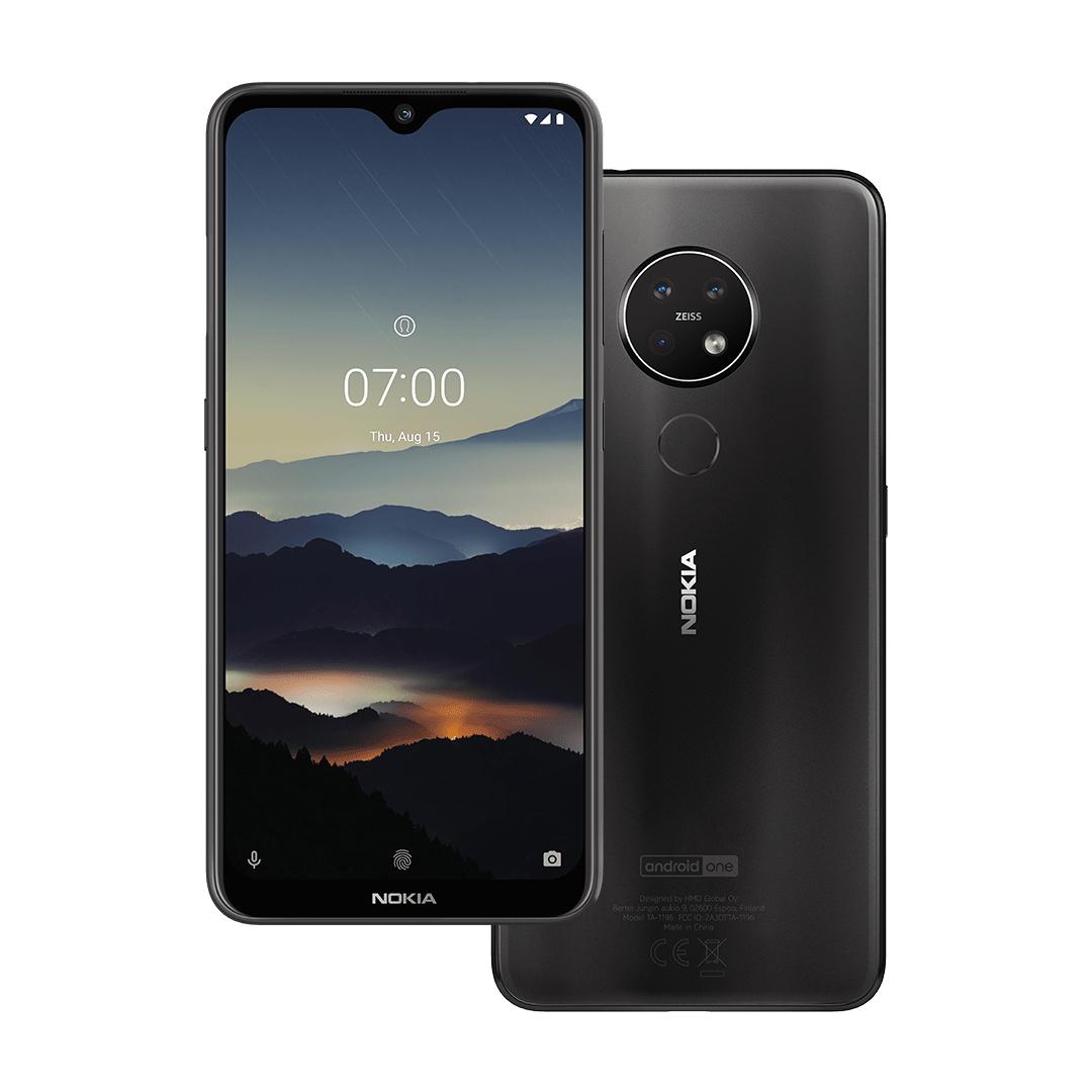 """Smartphone 6.3"""" Nokia 7.2 (Coloris au choix) - 128Go + Ecouteurs Bluetooth Power Earbuds avec Boîtier + Coque Kevlar 007 (nokia.com)"""