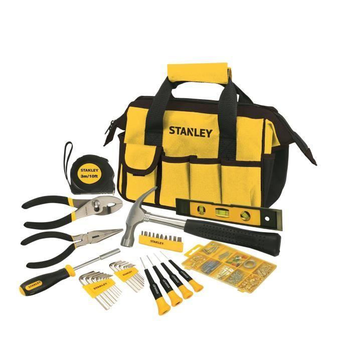 Sac à outils 38 pièces Stanley STMT0-74101 - marteau, pinces, tournevis, clés...